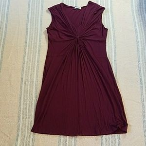 Calvin Klein gathered cocktail sleeveless dress 14